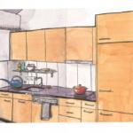 """29. März 2020: """"Sketch my kitchen"""", von Giuseppe Pichierri"""