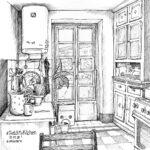 """29. März 2020: """"Sketch my kitchen"""", von Heidi Zurbuchen"""