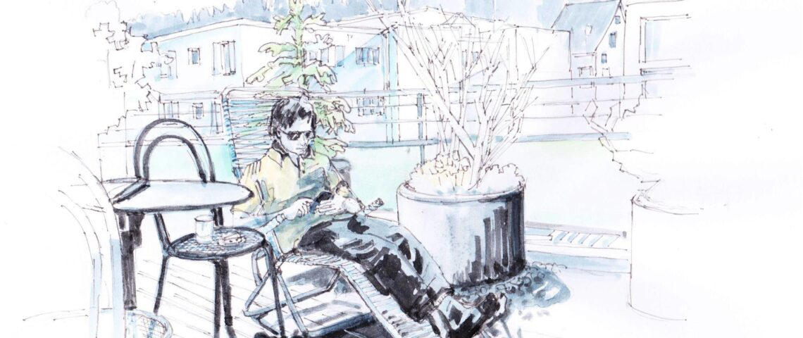 "11. April 2020: ""Urban Sketchers at home"", von   Eva Eder"