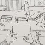 """12. April 2020: """"Sketching auf Terrasse"""", von Giuseppe Pichierri"""