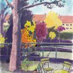 "13. April 2020: ""Hinterhof, Basel"", von Olivia Aloisi"