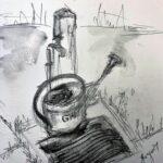 Jeannette Hasler-Gobbi: Alter Friedhof Giesskanne beim der Wasserstelle