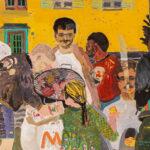 Boskovic-Scarth, Erismannhof 2019, Acryl, Wachspastell und Kohle auf Papier, 116,5 x 153 cm