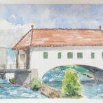 Gunther Rotsch: Holzbrücke, 19. 7. 2021