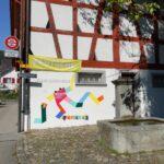 Ausstellungsansicht, Urban Sketchers: Wettingen – Stern an der Limmat, Leben am Wasser; In Kooperation mit Urban Sketchers Switzerland und Fantoche – Internationales Festival für Animationsfilm