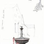 Ines Mühlemann: spielende Kinder im Kloster